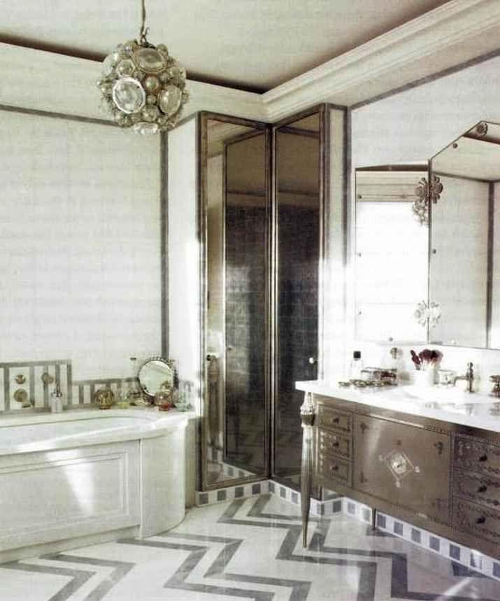 Best Art Deco Interiors Images On Pinterest Art Deco Bathroom