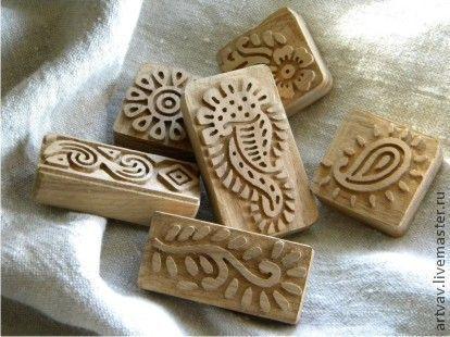 Купить Штампы для ручной печати по ткани - материалы для творчества, ручная роспись, ручная роспись по ткани