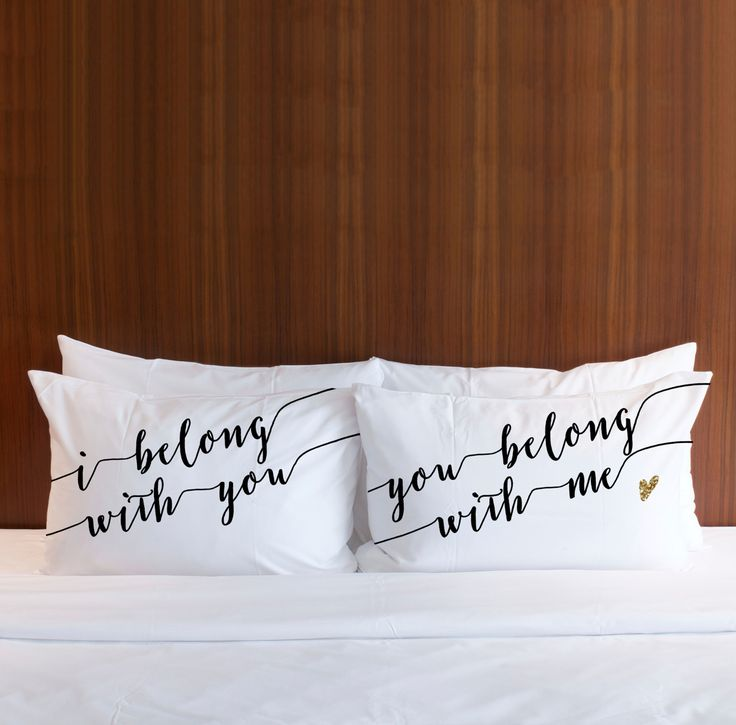 belong with you pillowcases gift set wedding pinterest gift bedrooms and room decor. Black Bedroom Furniture Sets. Home Design Ideas