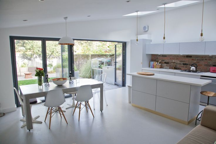 KING EDWARD'S ROAD, LONDON Our clients wanted to open up their cramped living spaces to create a single open plan space with a better relationship with their garden. The existing ceiling was removed...