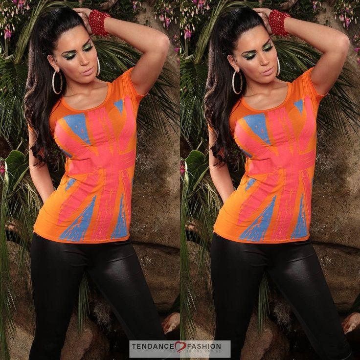 Top fashion EMMY couleur orange #tendancefashion