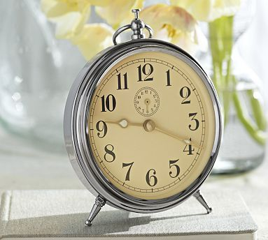 Charleston Alarm Clock   Silver