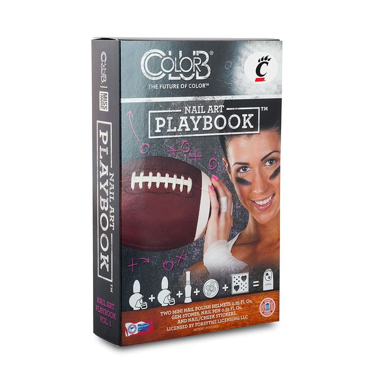CINCINNATI BEARCATS PLAYBOOK NAIL ART KIT-UNIVERSITY OF CINCINNATI NAIL POLISH AND NAIL ART KIT * More info could be found at the image url.