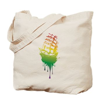Frigate Ship Sketch Tote Bag