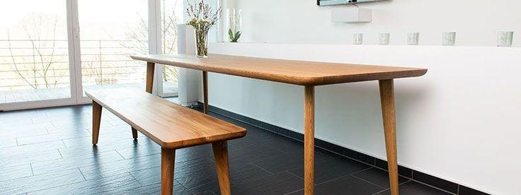 Esstisch Massivholz Eiche Modern ~  Pinterest  Esszimmertisch Holz, Esstisch 80×80 und Esstisch Eiche