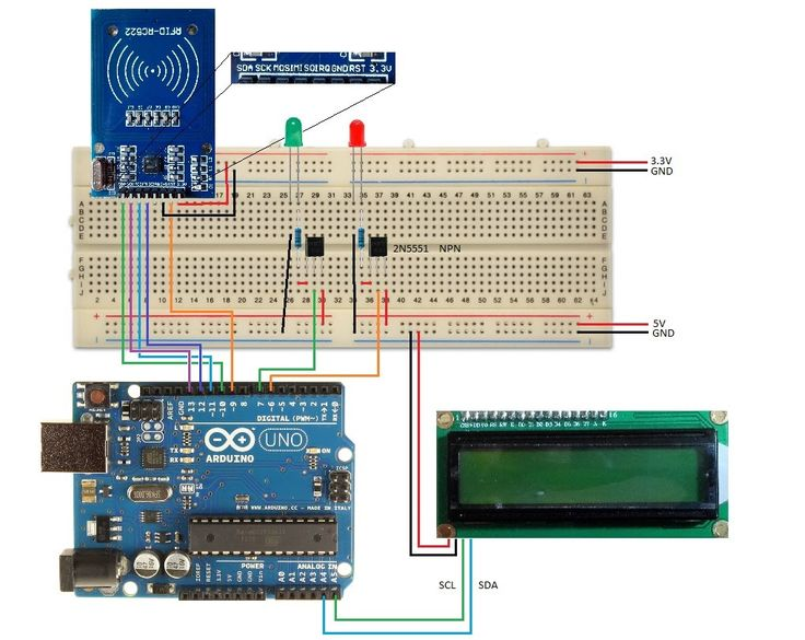 Arduino using a rfid rc part master and slave card
