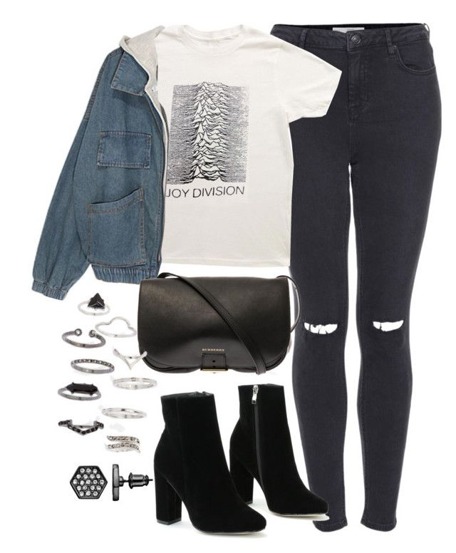 """""""Untitled #1142"""" by megan-trinite ❤ liked on Polyvore featuring Topshop, Burberry and Simply Vera"""