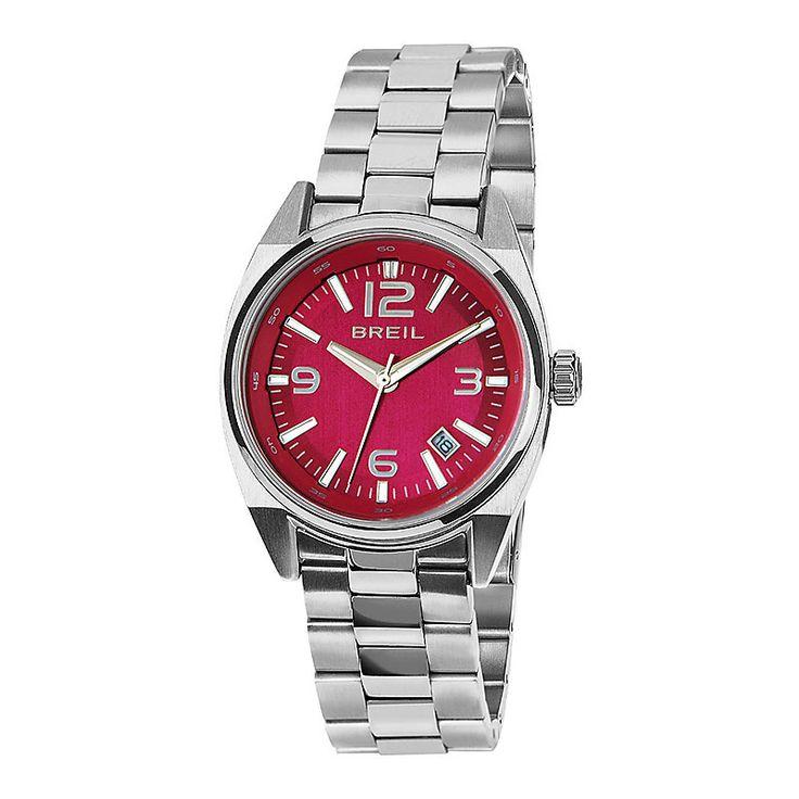 Forti toni rossi per questo nuovo orologio da donne della collezione Breil Master. Solo tempo con cassa e cinturino in acciaio, movimento al quarzo, data