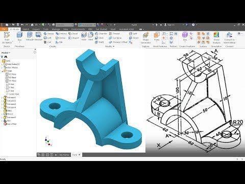Pleasing Autodesk Inventor Tutorial For Beginners Exercise 4 Download Free Architecture Designs Lukepmadebymaigaardcom