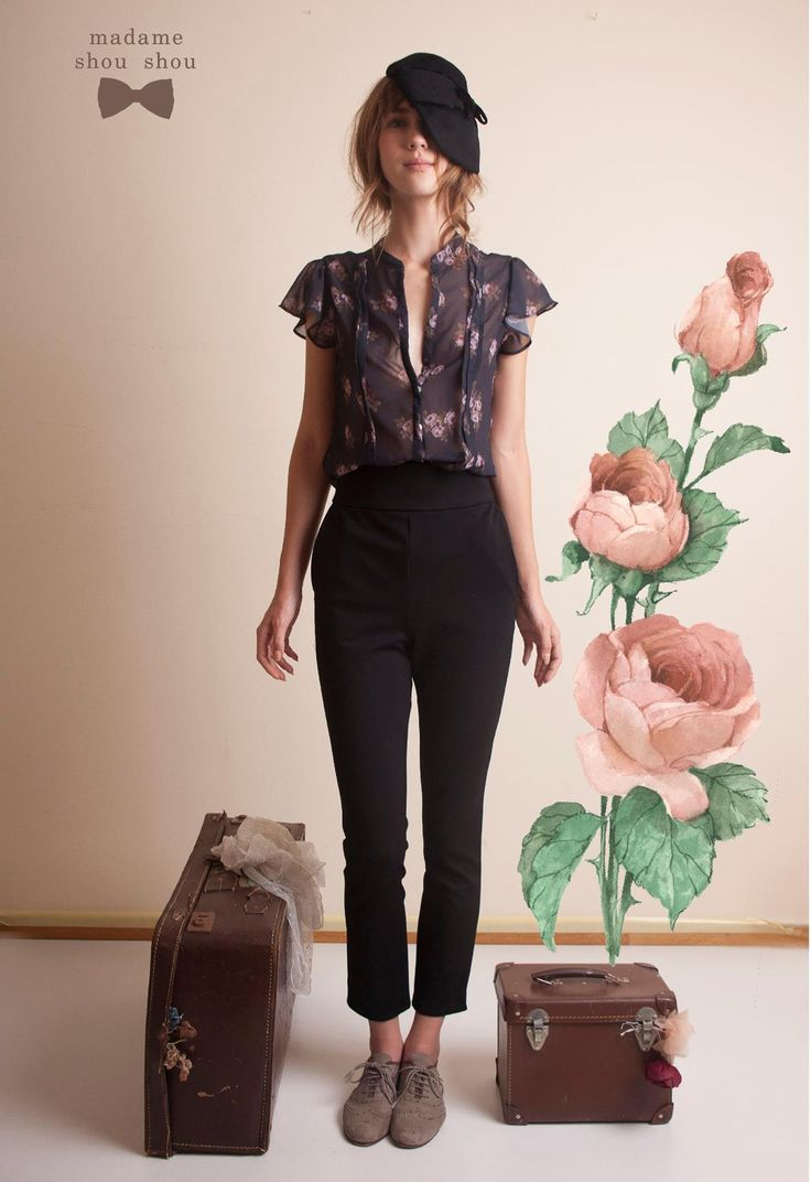 Bonjour!!! Henry Percell top & John Stanley trousers heart emoticon