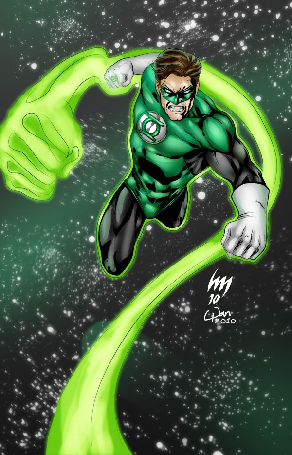 Hal Jordan - Colorby wansworld , Pencil by Heubert Khan Michael