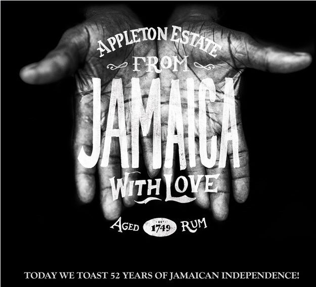 Happy Jamaican Independence Day! On August 6th, 1952, the Union Jack was lowered and the flag of Jamaica was raised for the very first time.Today is a day of national pride for Jamaicans and a day where many Appleton Estate cocktails will be raised in celebration. Big up!