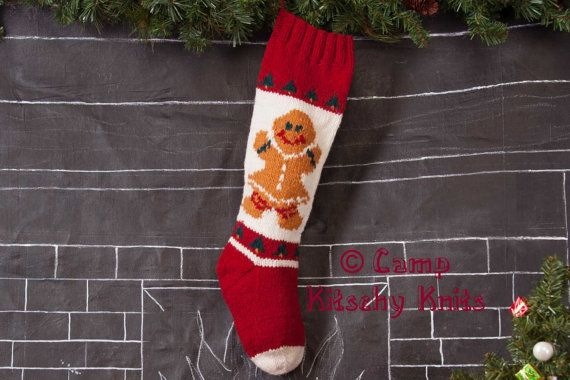Knitted Christmas Stockings / Personalized / Mary Maxim on Etsy, $45.00