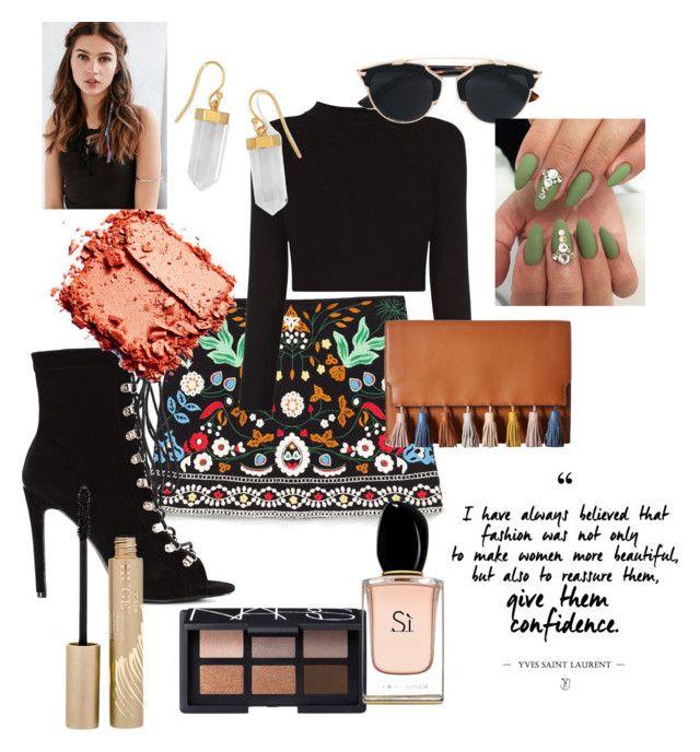 """Kinda Boho"" by harrietbuick ❤ liked on Polyvore featuring Rebecca Minkoff, BillyTheTree, Christian Dior, NARS Cosmetics, Armani Beauty, Stila and REGALROSE"