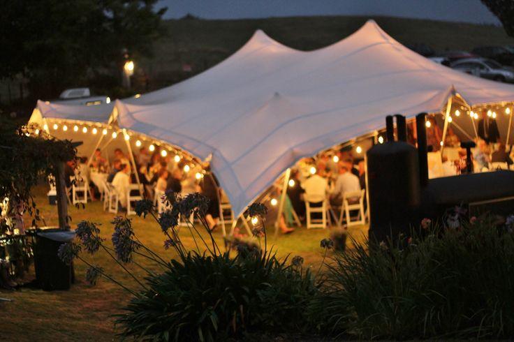 Feestoon lighting in an 18 x 16 Stretch Tent . #weddings #stretchtents #stretchtentsbop #stretchtentsnz #Taurangaweddings