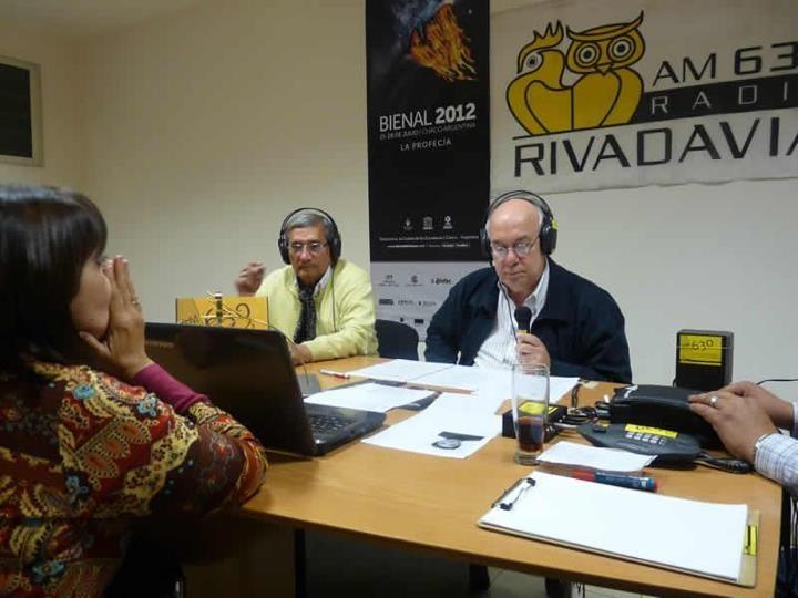 Programa especial desde MusEUM por Radio Rivadavia. Fotos gentileza de Lisandro Luis, director del programa Chaco espectáculos en Ciudad de Resistencia.