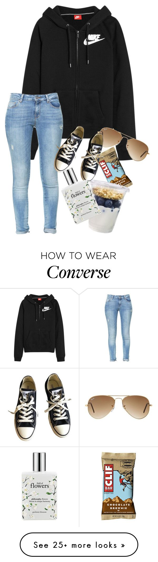 """Nike"" by southern-belle02 on Polyvore featuring NIKE, Zara, Ray-Ban, Converse and philosophy"