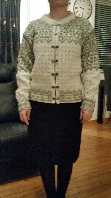 Telemarkskofte, Telemark knitted jacket. Norwegian knitting