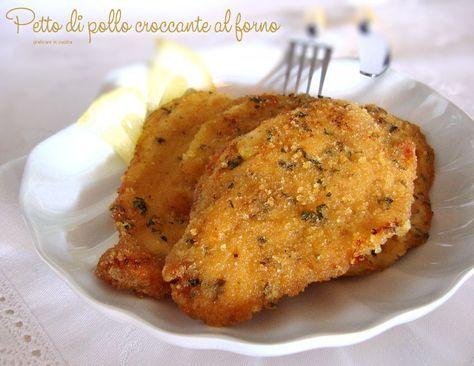 Petto di pollo croccante al forno http://blog.giallozafferano.it/graficareincucina/petto-di-pollo-croccante-al-forno/