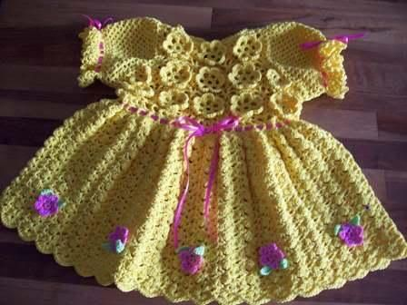 Hat and dress baby by salasandra72 | Crocheting Ideas