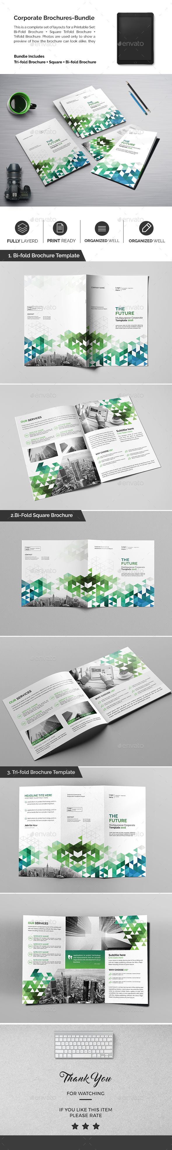 Corporate Brochures Template PSD Bundle. Download here: https://graphicriver.net/item/corporate-brochures-bundle-08/17318581?ref=ksioks