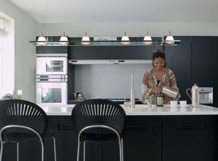 Rådgivning om belysning i loft og over køkkenbord.