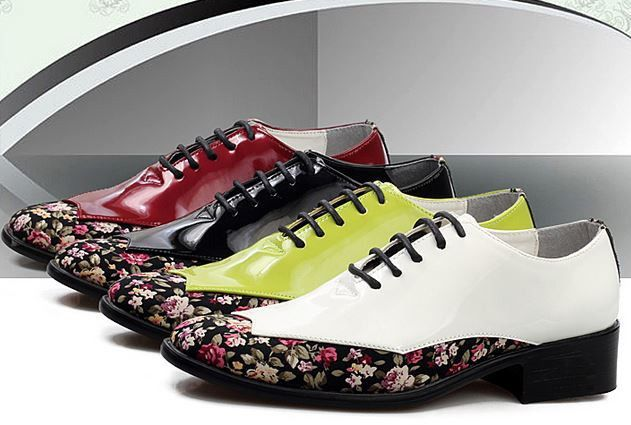 FASHION MENS LACE UP OXFORDS FLOWER PATENT LEATHER CASUAL DRESS Wedding SHOES  #Other #Oxford