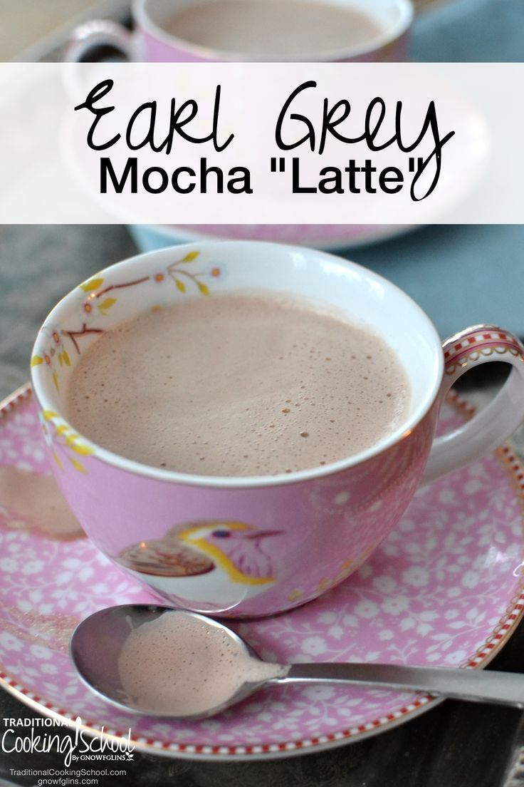 """Earl Grey Mocha """"Latte""""   I enjoy a good cup of coffee... Yet sometimes I crave a cup of tea. Not just any cup of tea, mind you, but a cup of Earl Grey -- with frothy milk, rich cocoa, raw honey, and a touch of vanilla extract. Who says a mocha latte has to be made with coffee? Let tea drinkers rejoice that they can now have their mocha sans coffee…"""