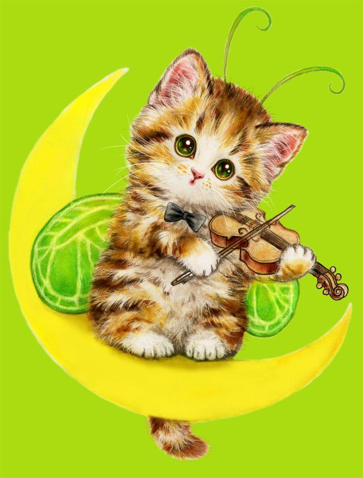 Картинки вопросом, детские открытки кошки