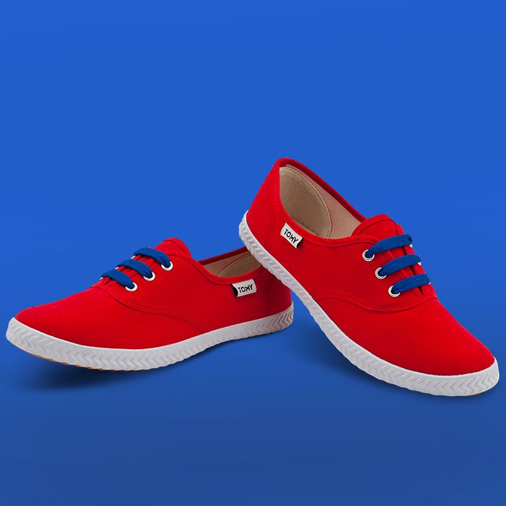Tomy Original Low Red (blue laces not included)
