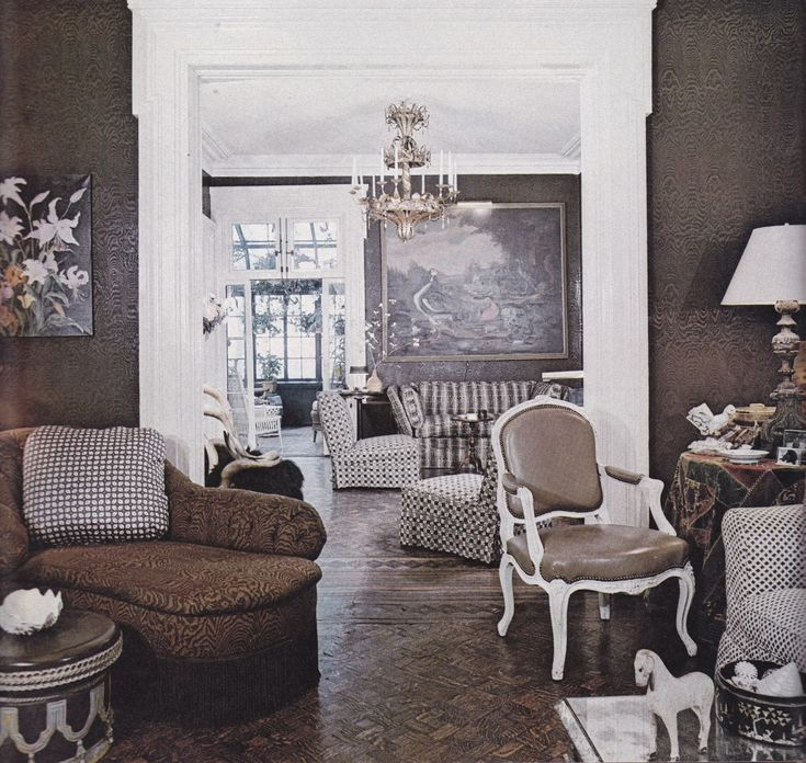 A Brown And White Scheme For A Manhattan Townhouse By Thomas Morrow  Sometime In Teh Photo By Richard Champion.
