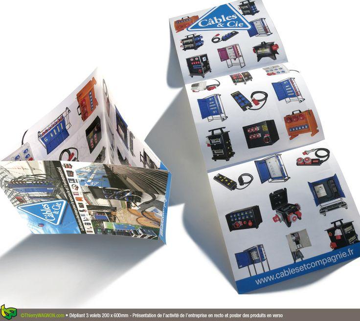 conception et r alisation d 39 un d pliant 3 volets 200 x 600mm plaquette de pr sentation au. Black Bedroom Furniture Sets. Home Design Ideas