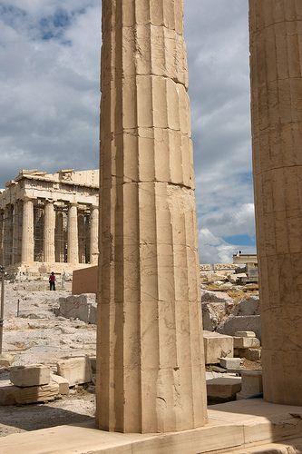 Greece, Athens, Acropolis, Parthenon from Propyleion