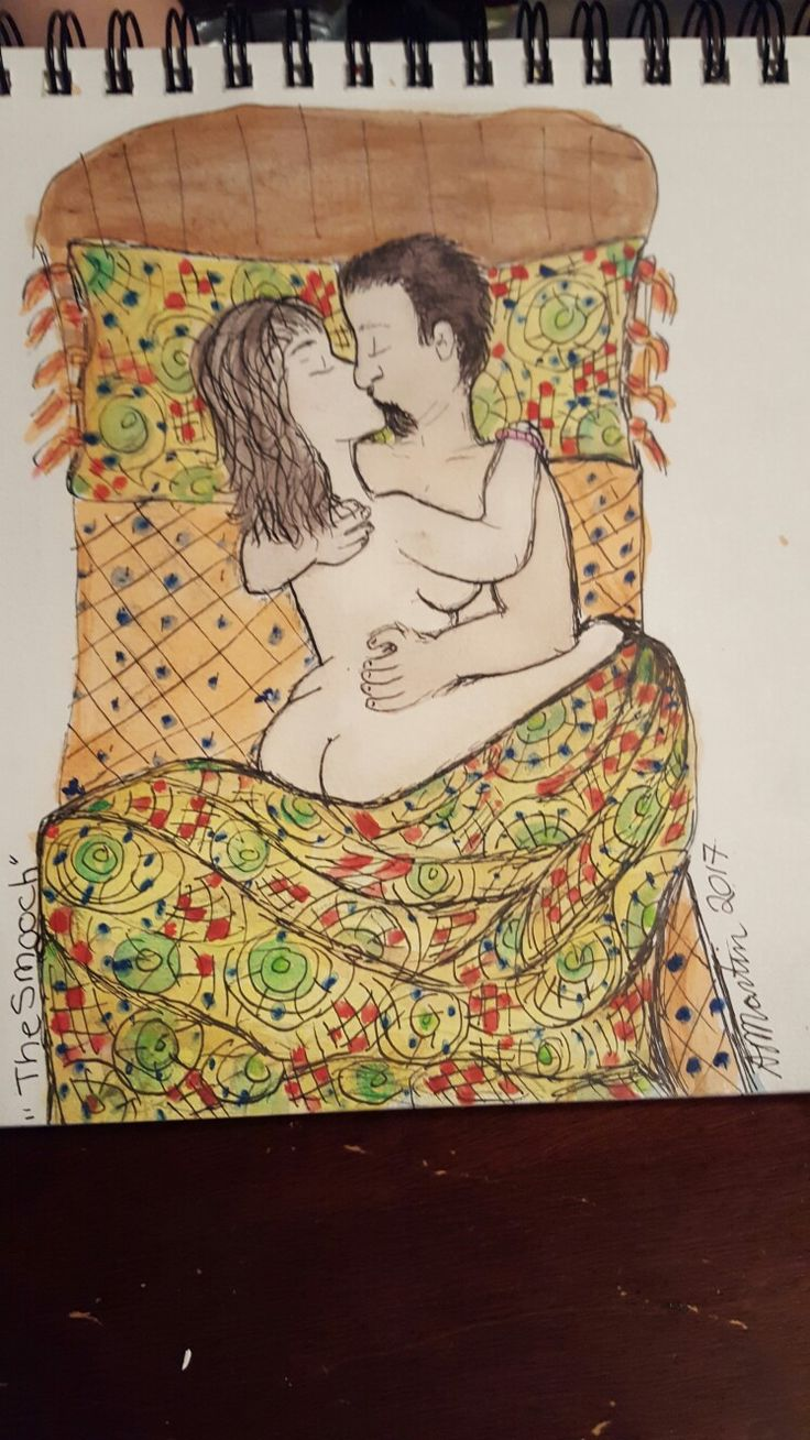 """""""The Smooch"""" Inspired by the painting """"The Kiss"""" by Gustav Klim. Opus Daily Practice."""