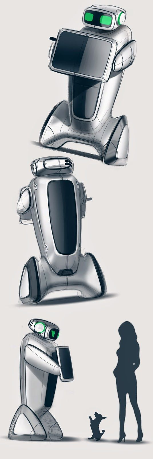 This looks like it would come straight out of Wall-E. I like the simple curve lines in the design.