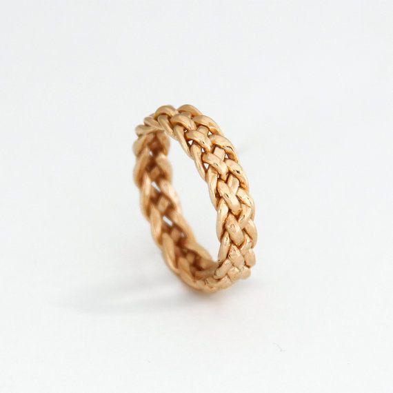 Único oro blanco anillo único oro blanco anillo de por MayaMor