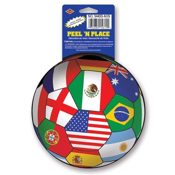International Soccer Ball Peel 'N Place (1/Sheet)