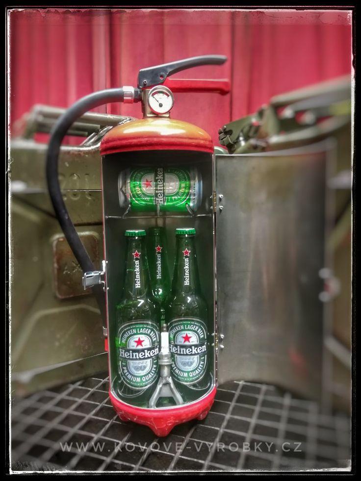 Fire extinguisher minibar Heineken