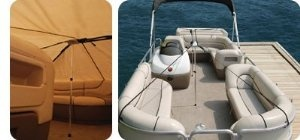 Taylor Made Products 55745 Marine Pontoon Boat Cover Support System #marine #pontooncovers Taylor Made Products Marine Pontoon Boat Cover Support System extends the life of your pontoon boat cover by preventing water from pocketing. This easily installed system includes two adjustable support poles (bright dip anodized - snap ends). 60 feet of 1 inch polypropylene webbing, quick release adjuster buckles and four injection molded hooks to secure to decking. #boatcover