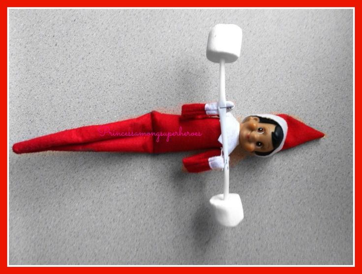 Elf on the Shelf Idea:  Working Out