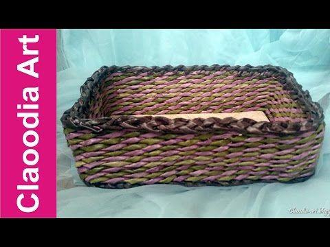 Cómo hacer una cesta de mimbre rectangular con papel? - YouTube