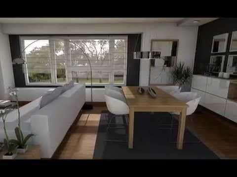 Dise o interior distribuci n sal n cuadrado rectangular for Salon comedor pequeno rectangular