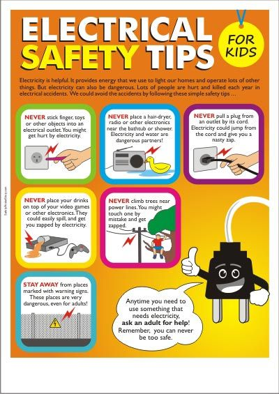 #Electrical Safety Tips For Kids by Schaffhouser Electric Co. #Electricity is helpful, but it can also be harmful to children.                                                                                                                                                                                 More