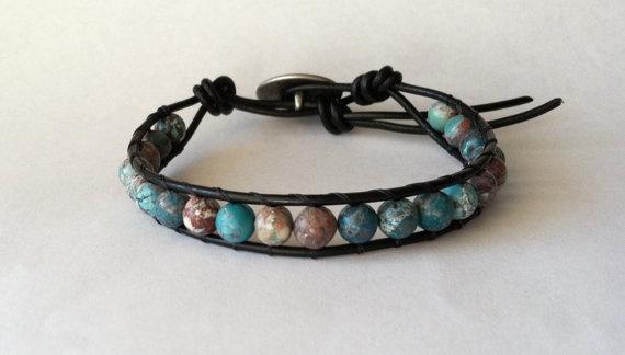 Leather Wrap Bracelet Stackable Chan Luu by Jennasjewelrydesign,