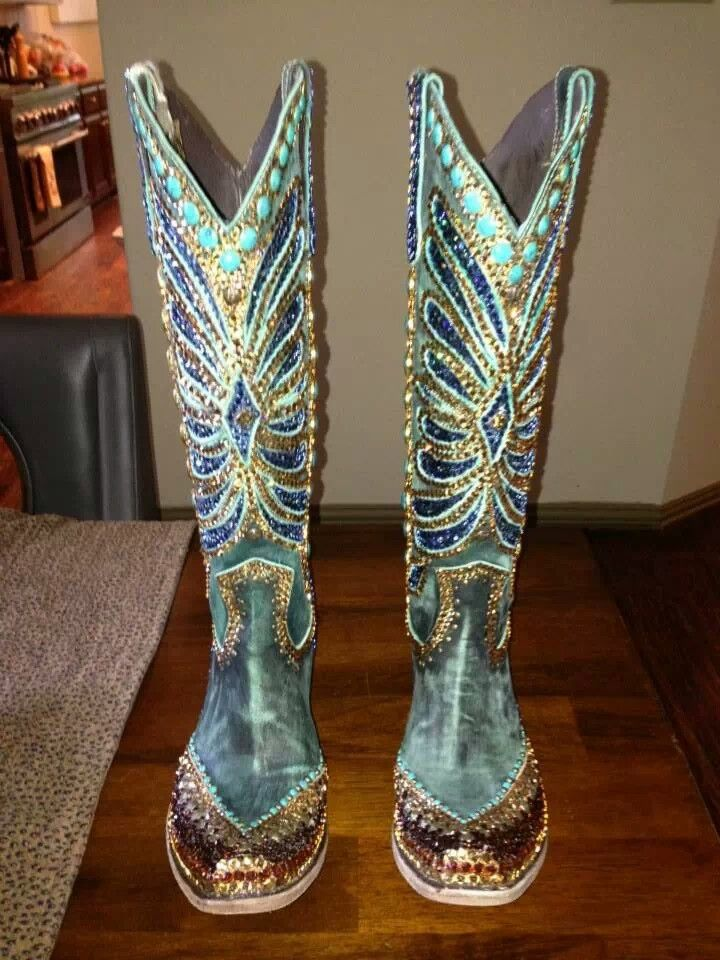 Paradise swarovski crystal bling cowgirl boots