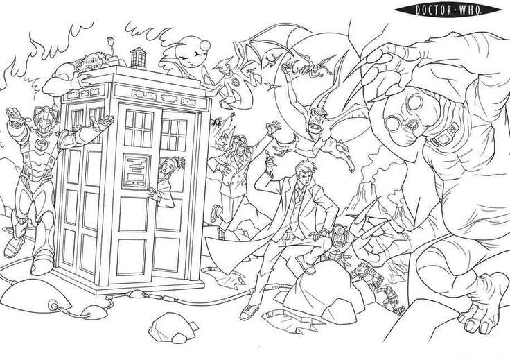 Doctor who coloring pages kids pinterest coloring for Doctor who tardis coloring pages