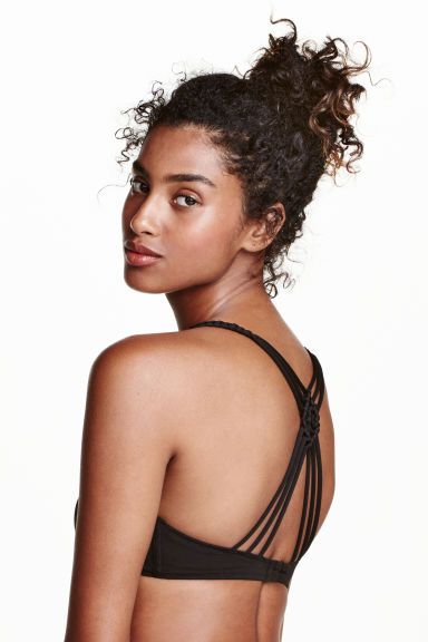Triangle bikini top - Black - Ladies   H&M