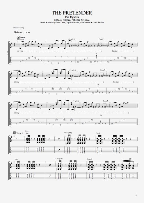 RUN CHORDS by Foo Fighters @ Ultimate-Guitar.Com
