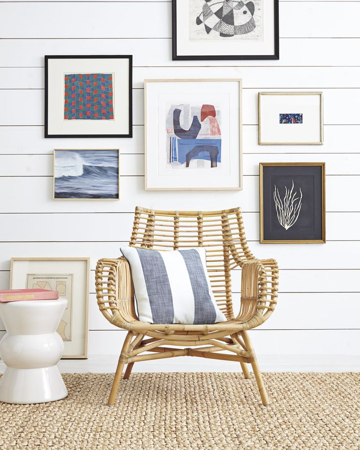 Gallery wall moment | Venice Rattan Chair via Serena & Lily