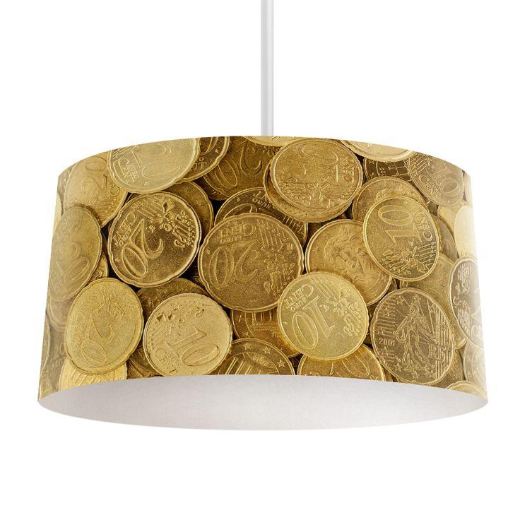 Lampenkap Eurocent | Bestel lampenkappen voorzien van digitale print op hoogwaardige kunststof vandaag nog bij YouPri. Verkrijgbaar in verschillende maten en geschikt voor diverse ruimtes. Te bestellen met een eigen afbeelding of een print uit onze collectie. #lampenkap #lampenkappen #lamp #interieur #interieurdesign #woonruimte #slaapkamer #maken #pimpen #diy #modern #bekleden #design #foto #geld #euro #centen #cent #rijk